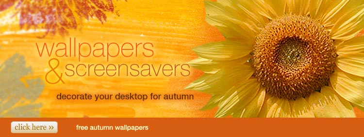 wallpapers and screensavers - decorate your desktop for autumn