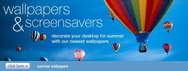 wallpapers and screensavers - decorate your desktop for summer with our newest wallpapers