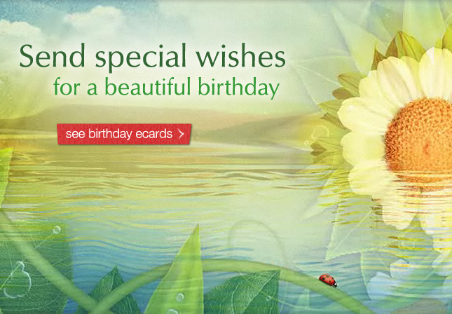 Send special wishes for a beautiful birthday. See birthday ecards