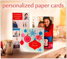 christmas personalized paper cards