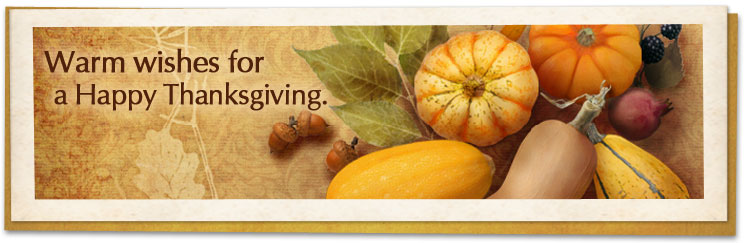 Warm wishes for a Happy Thanksgiving.