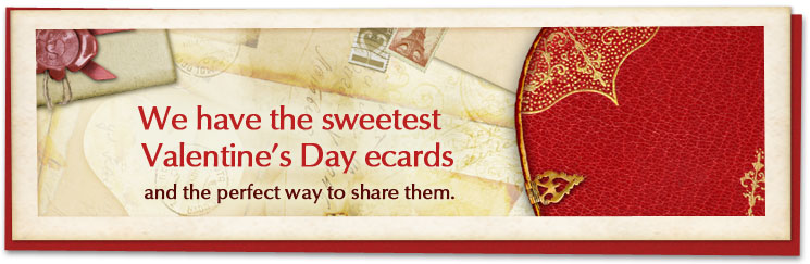 We have the sweetest Valentine's Day ecards and the perfect way to share them.