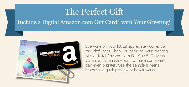 amazon gift ecards  send gifts with ecards