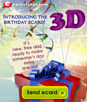 Send now this 3D birthday ecard!