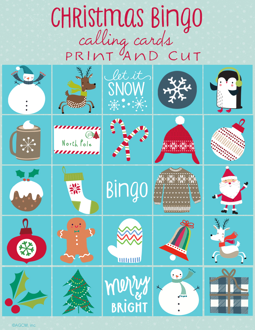 Invaluable image in christmas bingo card printable