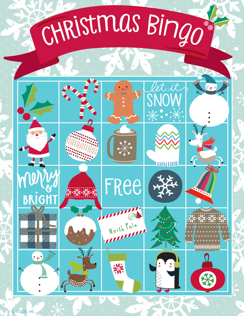 Ridiculous image inside holiday bingo printable