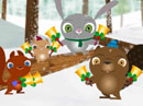 Woodland Concert<br>(Joy to the World) Christmas eCards