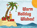 Hawaiian Christmas<br>(Fun Song) Christmas eCards