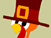 Turkey Protest  -- Free Funny Holiday, Screensavers from American Greetings