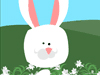 Silly Lily Bunny  -- Free Animal Easter,Animal  Holiday Screensavers from American Greetings