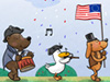Independence Day Parade  -- Free July Animal, Screensavers from American Greetings