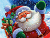 Santa&#39;s Arrival  -- Free Cute, Desktop Wallpapers from American Greetings