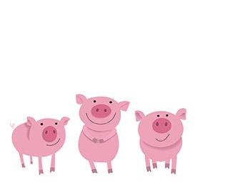 cute pigs cartoon wallpaper - photo #22
