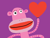 Love Monkey  -- Free Monkey, Animal Desktop Wallpapers from American Greetings