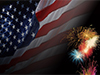 Flags and Fireworks  -- Free Patriotic, Military Desktop Wallpapers from American Greetings