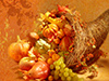 Classic Cornucopia  -- Free Anyone Thanksgiving,Anyone  Holiday Desktop Wallpapers from American Greetings