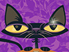 Surly Kitty  -- Free Cute Pets October, Desktop Wallpapers from American Greetings