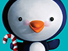 Holiday Penguin  -- Free Cute Christmas,Cute  Holiday Desktop Wallpapers from American Greetings