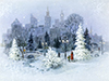 Winter in the City  -- Free Traditional Christmas,Traditional  Holiday Desktop Wallpapers from American Greetings