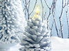 Holiday Candles  -- Free Nature, Desktop Wallpapers from American Greetings