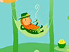 Lazy Leprechaun  -- Free March, Desktop Wallpapers from American Greetings