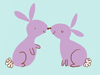 Kissing Bunnies  -- Free Cute Holiday Flower,Cute Holiday  Nature Desktop Wallpapers from American Greetings