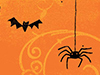 Along Came a Spider...  -- Free October, Desktop Wallpapers from American Greetings