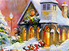 Chapel on the Square  -- Free Christmas, Holiday Desktop Wallpapers from American Greetings