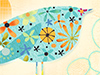 Quirky Bird  -- Free Trendy, Desktop Wallpapers from American Greetings