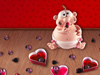 Candied Cupid  -- Free Cute Holiday, Desktop Wallpapers from American Greetings