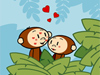 Jungle Love  -- Free Monkey, Animal Desktop Wallpapers from American Greetings