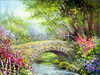 Old Stone Bridge  -- Free Traditional Just Because Flower,Traditional Just Because  Nature Desktop Wallpapers from American Greetings
