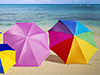 Beach Umbrellas  -- Free Beach, Nature Desktop Wallpapers from American Greetings