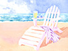 Beach Chair  -- Free Beach, Nature Desktop Wallpapers from American Greetings