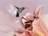 Hummingbird Visit  -- Free Trendy Flower,Trendy  Nature Desktop Wallpapers from American Greetings
