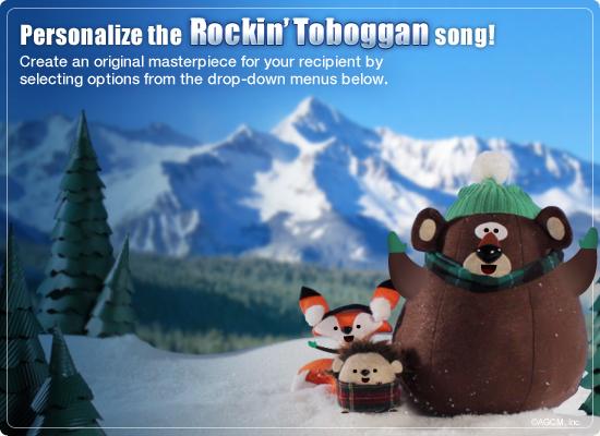 Rockin Toboggan Video Ecard Personalized Lyrics Holiday – Birthday Card Lyrics