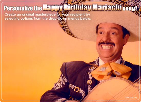 Mariachi Birthday Video Ecard Personalized Lyrics Milestone – Birthday Card Lyrics
