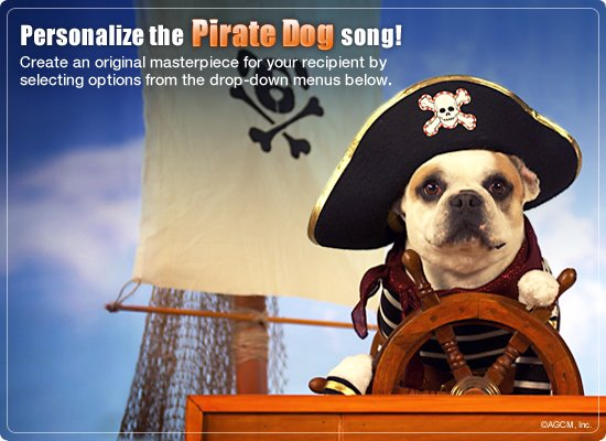 Pirate Dog Video Ecard Personalized Lyrics Happy Birthday – Send E Birthday Card