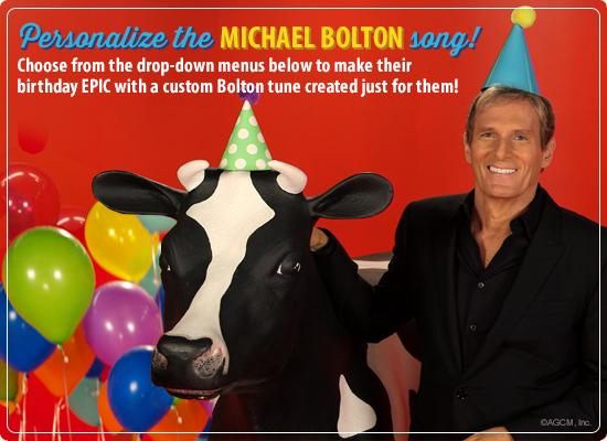 Michael Bolton Birthday Song (Personalized Lyrics)