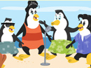 Bee-Bop Penguins<br>Surf's Up Song Have a Nice Day eCards