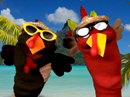 Turkey Puppet Duet Thanksgiving eCards