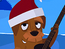 Tropical Christmas Song Christmas eCards