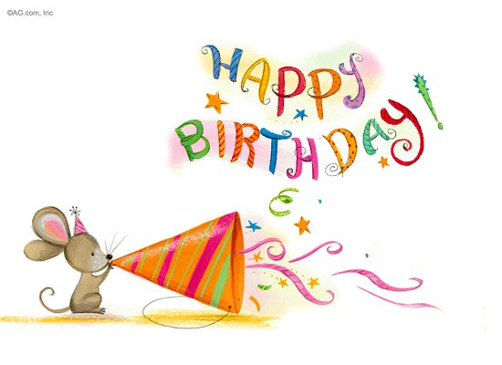 Birthday Party Mouse - Happy Birthday Ecard | American Greetings
