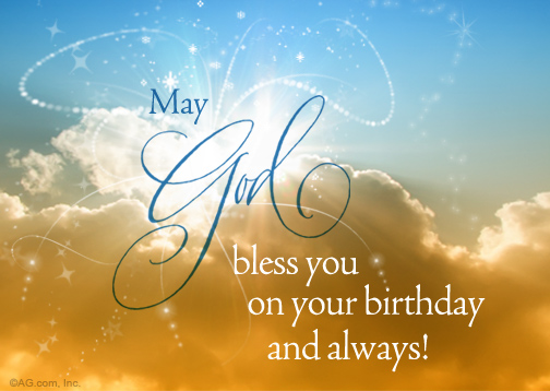 Quot Heaven Sent Wish Postcard Quot Birthday Postcard Blue Happy Birthday May God Fulfill All Your Wishes