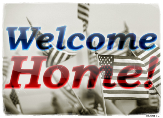 Welcome home troops veterans day ecard american greetings for Welcome home troops decorations