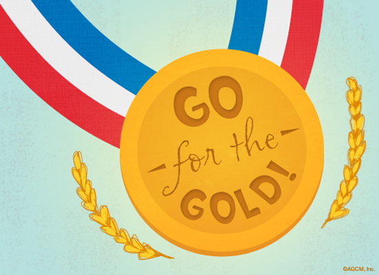 Go For The Gold Thinking Of You Ecard American Greetings