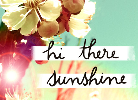 Hello, Sunshine!