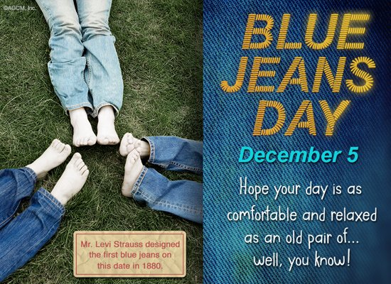 12/5 Happy Blue Jeans Day - Celebrate the Date Ecard | American Greetings