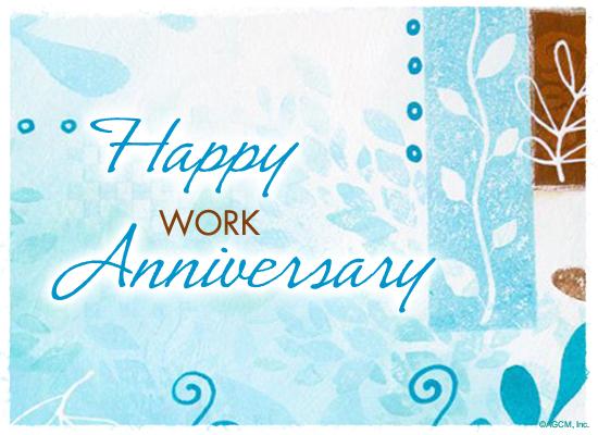 Happy work anniversary ecard american
