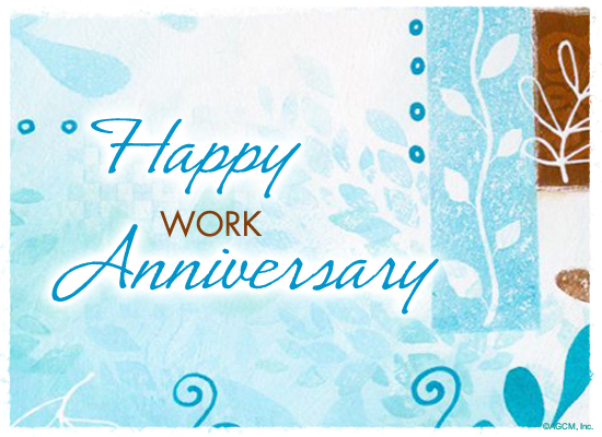Happy work anniversary ecard american